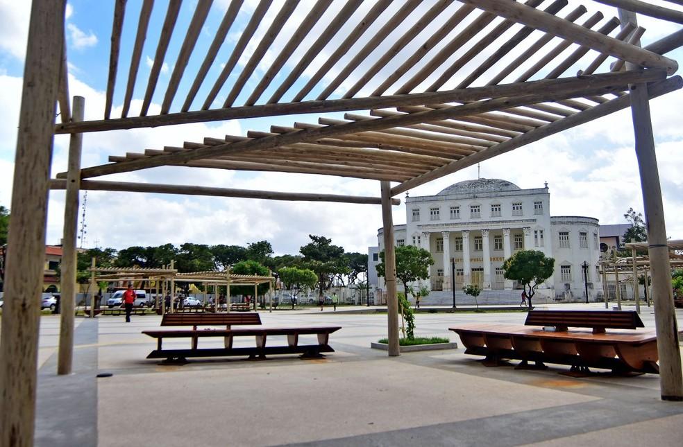 Governo tenta entregar até o final do ano a inauguração das novas Praças do Pantheon e Deodoro, em São Luís — Foto: Maurício Alexandre