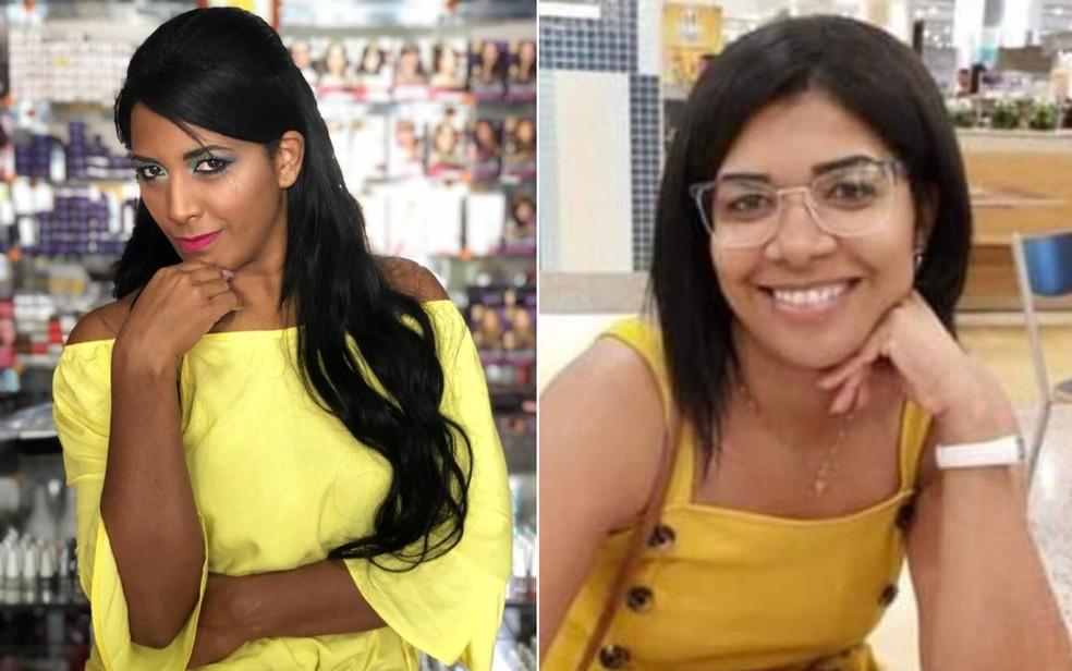 As irmãs Edilaine Santos da Costa e Elaine Rodrigues dos Santos morreram de Covid-19 — Foto: Reprodução/TV Anhaguera