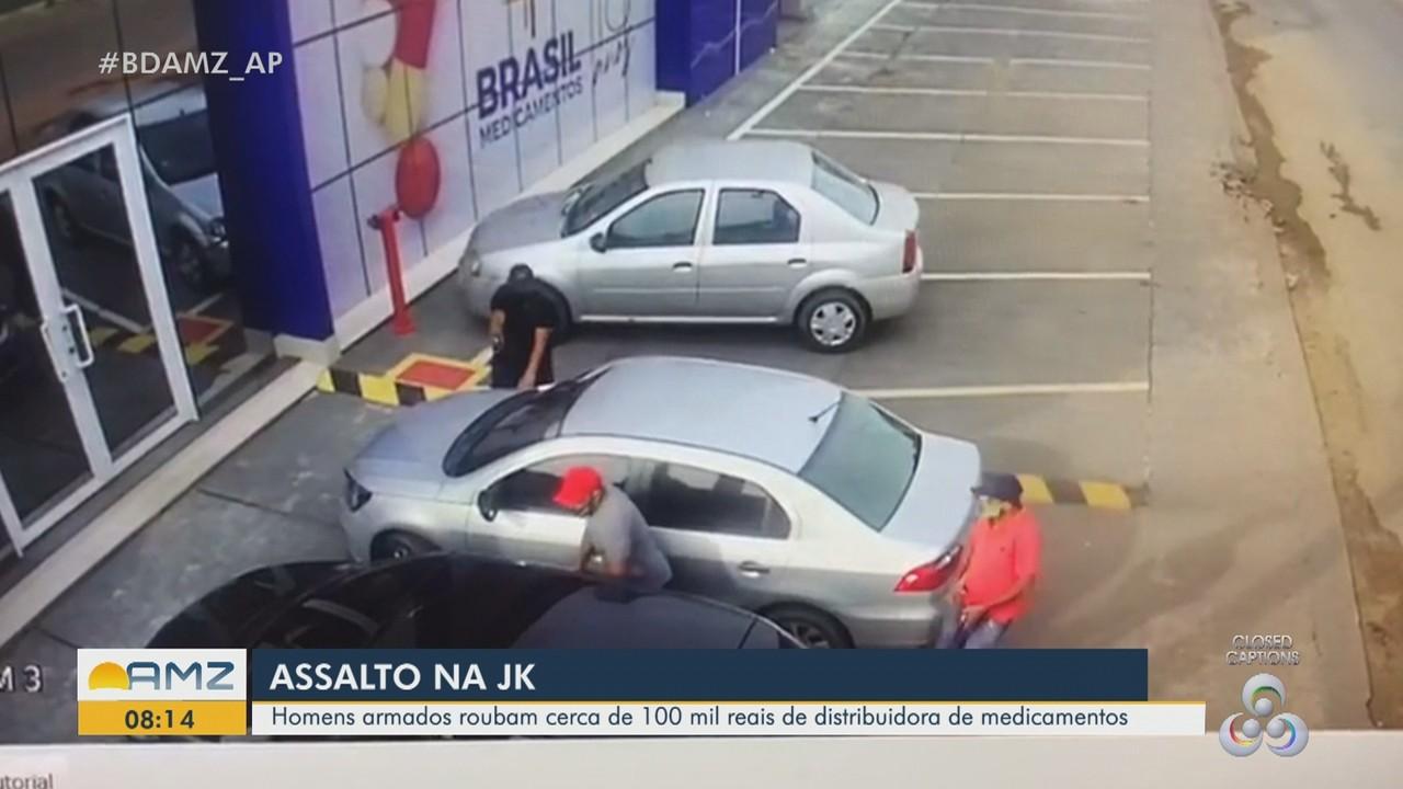 Grupo armado rouba cerca de R$ 100 mil em medicamentos durante assalto à distribuidora