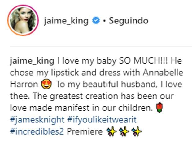 Jaime King fala do filho James (Foto: Reprodução/Instagram)