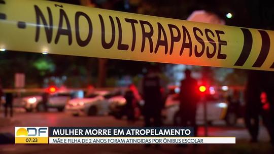 Uma mulher morreu atropelada por um ônibus escolar no Núcleo Bandeirante