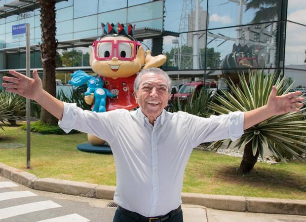 Mauricio de Sousa na sede da Mauricio de Sousa Produções (Foto: Divulgação/MSP)