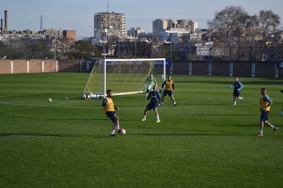 Grêmio fez um único treino na Argentina na tarde desta segunda (Foto: Eduardo Moura)