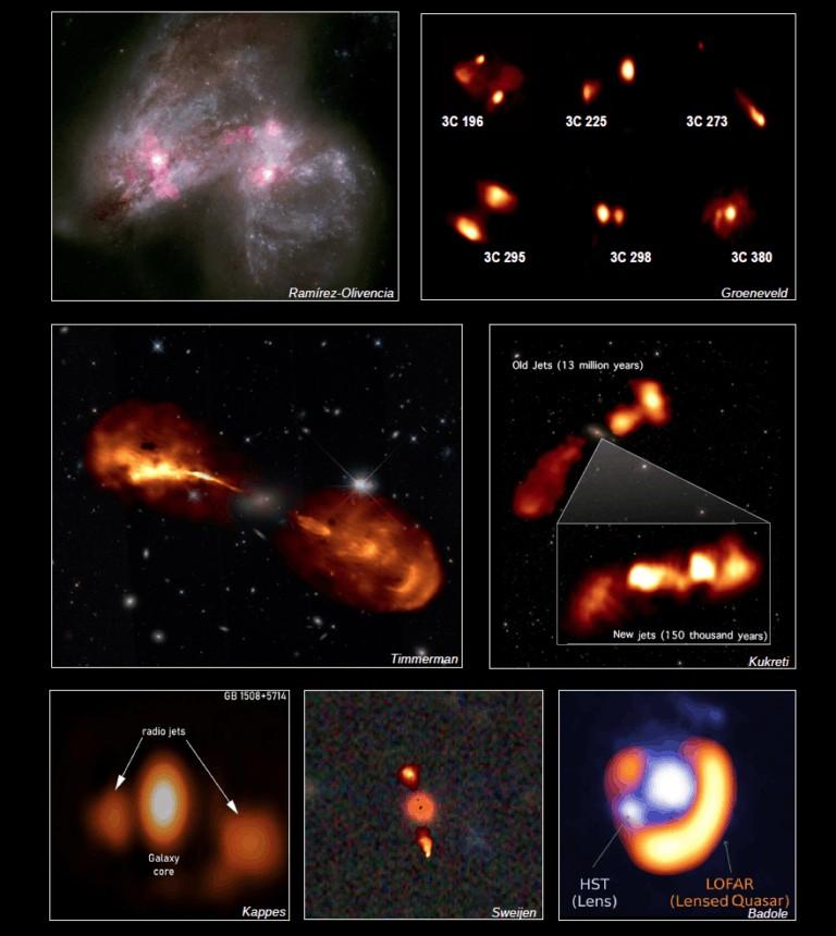 Com a junção de todas as antenas europeias, a equipe alcançou um diâmetro cerca de 16 vezes maior (2 mil km), com imagens vinte vezes mais nítidas (Foto: Crédito da esquerda para a direita começando da parte superior: N. Ramírez-Olivencia et el. [rádio]; NASA, ESA, o Hubble Heritage Team (STScI / AURA) -ESA / Hubble Collaboration e A. Evans (University of Virginia, Charlottesville / NRAO / Stony Brook Univ)