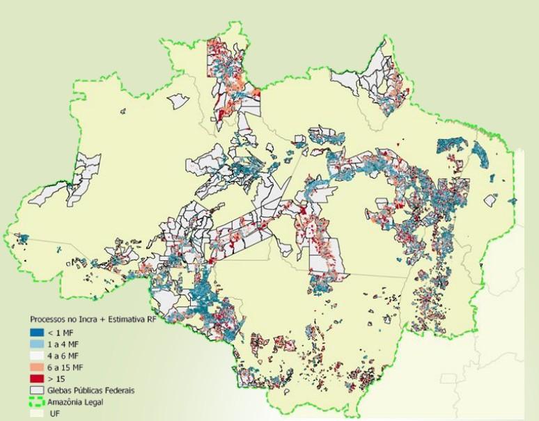 glebas-federais-reforma-fundiaria (Foto: Divulgação/Mapa )