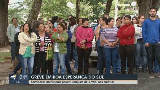 Sem reajuste há 4 anos, servidores municipais fazem paralisação em Boa Esperança do Sul