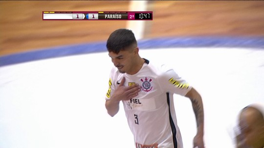 Corinthians empata com o Paraíso e vai à semifinal da Liga Paulista de Futsal