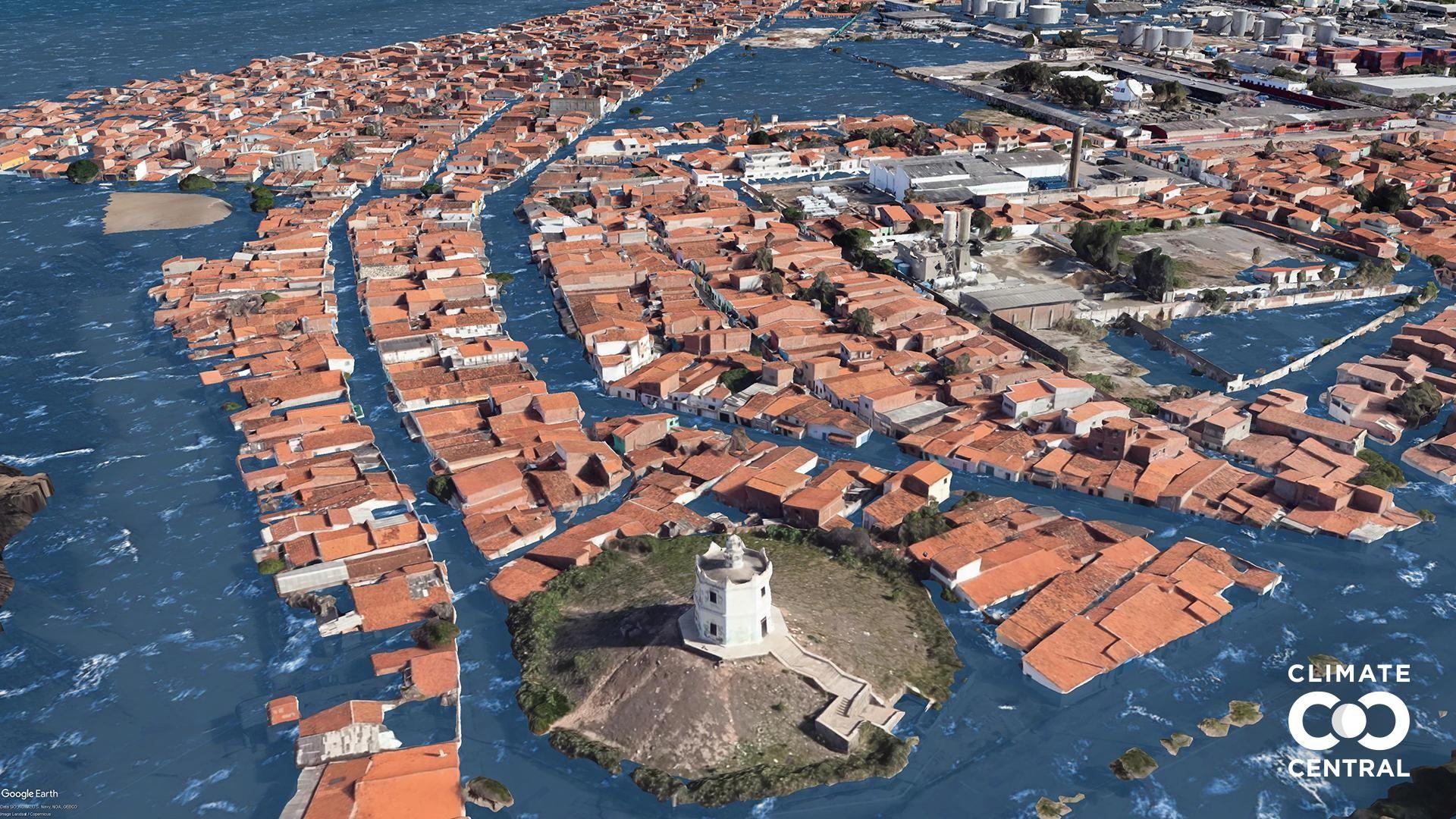 Região do Farol do Mucuripe, em Fortaleza, deve inundar com aumento da temperatura global, projeta pesquisa internacional; veja vídeo