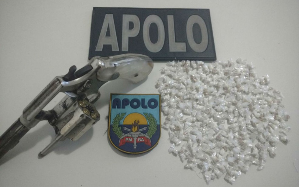 Material foi encontrado junto com suspeito (Foto: Divulgação/SSP-BA)