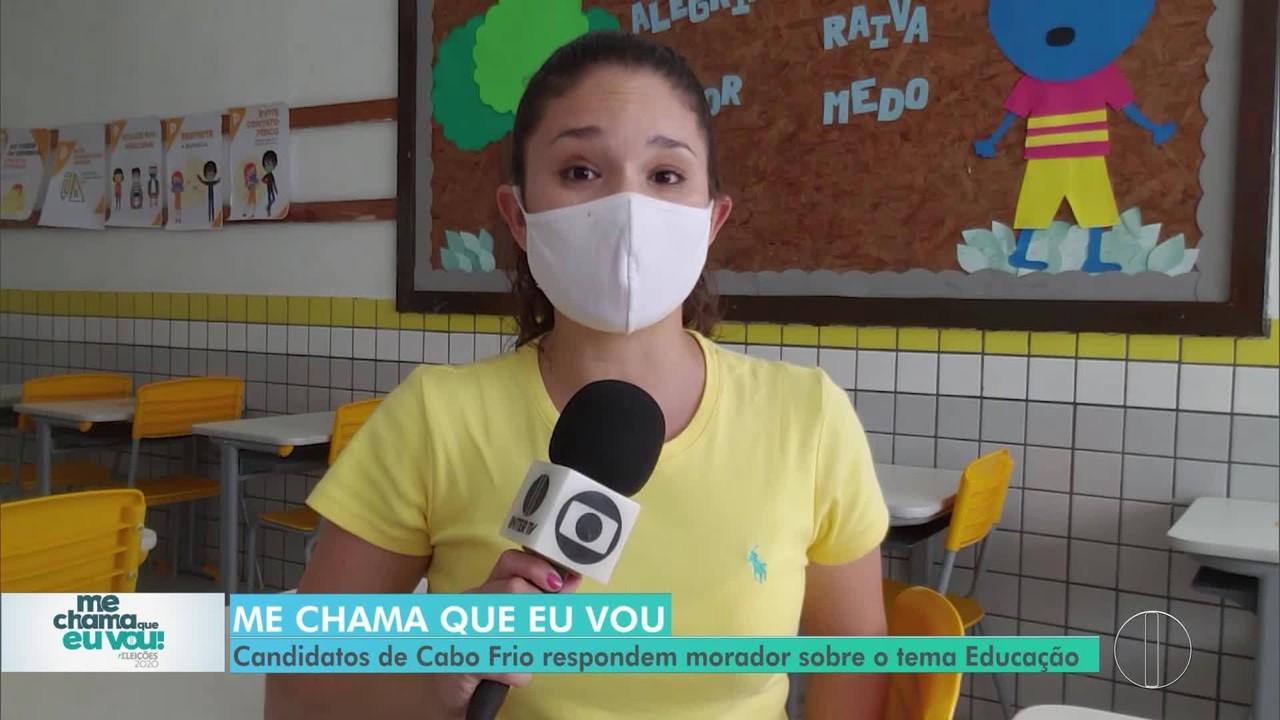 'Me chama que eu vou': Candidatos de Cabo Frio respondem morador sobre Eucação
