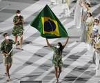 Delegação do Brasil desfila na abertura dos Jogos Olímpicos   Reprodução