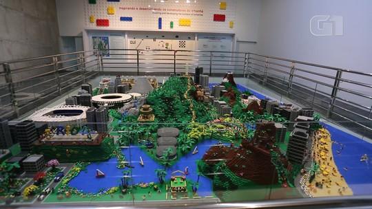 Rio ganha maquete com quase 1 milhão de peças de Lego no aniversário da cidade