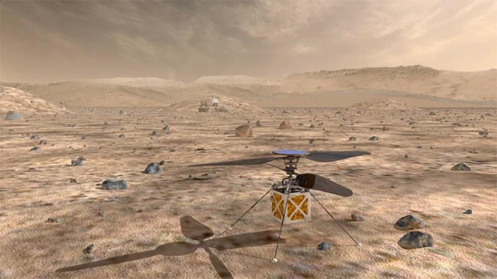 Nasa vai mandar pequeno helicóptero para pesquisar Marte (Foto: NASA)