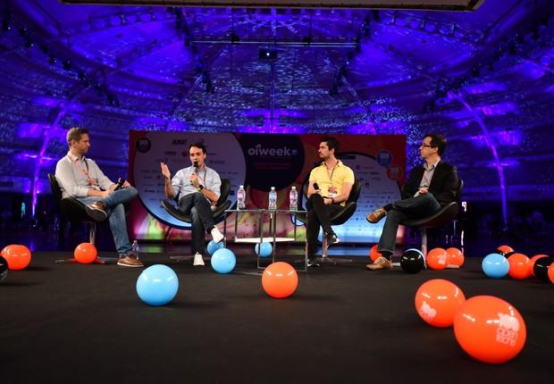 Sergio Furio, CEO da Creditas, fala durante painel na Open Innovation Week, em São Paulo. Empresário diz que investidores estão dispostos a assinar altos cheques para o Brasil (Foto: Divulgação/OIWeek)