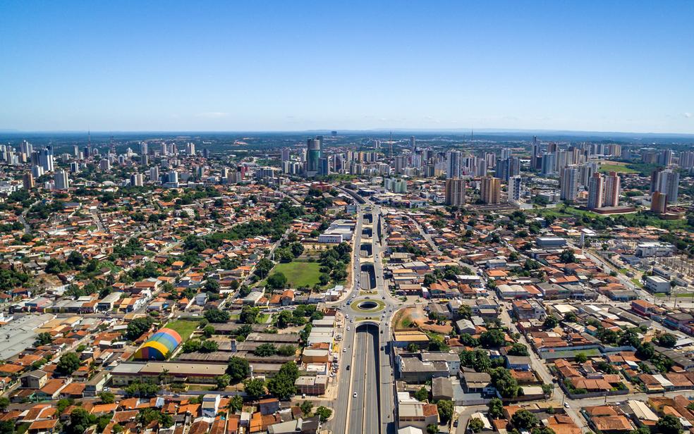 Trincheira da Jurumirim é uma das obras construídas para a Copa  (Foto: Drone Cuiabá)