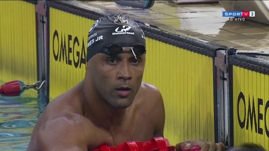 João Gomes Jr. vence os 50m peito masculino no Troféu Maria Lenk