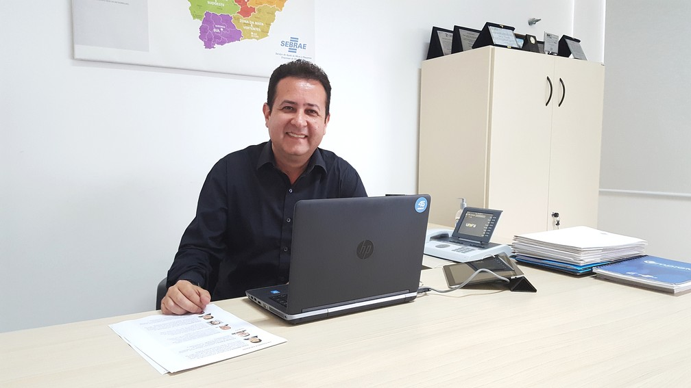 Juliano Cornélio é o gerente da Regional Sul do Sebrae Minas. (Foto: Fernanda Rodrigues/G1)
