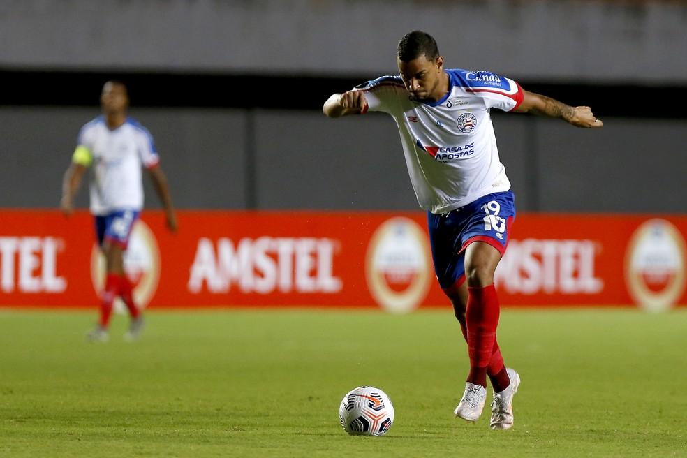 Thonny Anderson estreou pelo Bahia na partida contra o Guabirá — Foto: Felipe Oliveira/EC Bahia