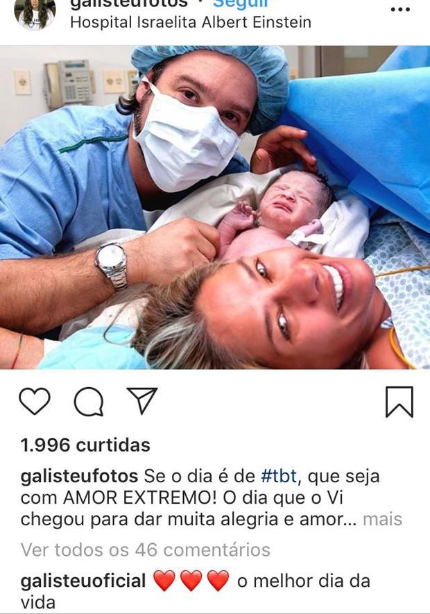 Adriane Galisteu e Alexandre Iódice no nascimento de Vittorio, em 2010 (Foto: Reprodução/Instagram)