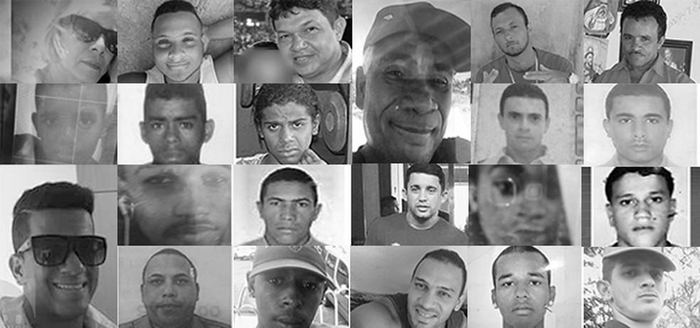 Levantamento do G1 constatou que maioria das 96 vítimas de homicídio entre 21 e 27 de agosto foi assassinada com armas de fogo (Foto: Arte/TV Globo)