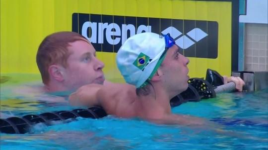 Fernando Scheffer conquista a medalha de prata no 400m livre no Mare Nostrum