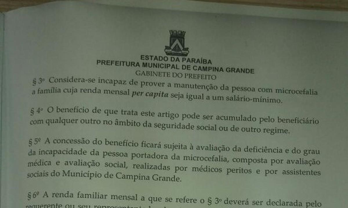 Sancionada lei que dá benefícios a famílias de pacientes com microcefalia em Campina Grande