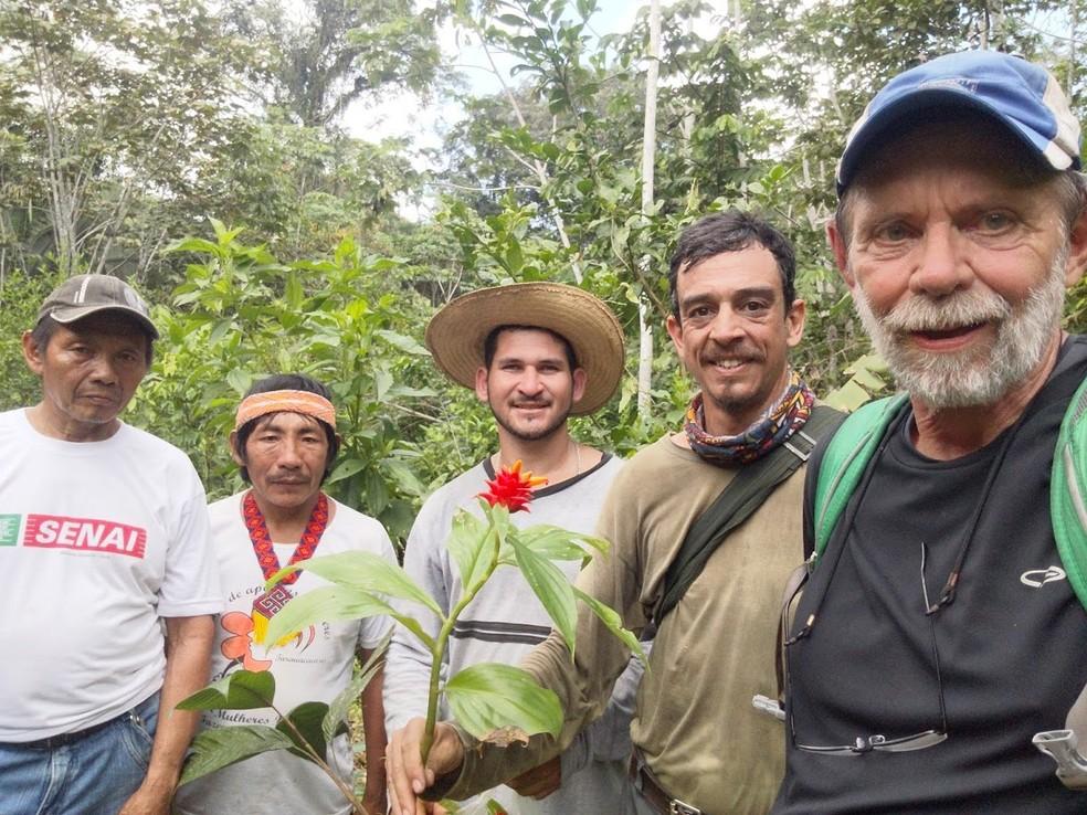 Planta foi achada com a ajuda de indígenas da região — Foto: Dave Skinner/Arquivo pessoal
