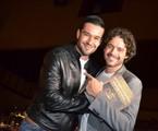 Sérgio Marone e Guilherme Winter na pré-estreia do filme 'Os Dez Mandamentos' | Demetrio Koch / Divulgação