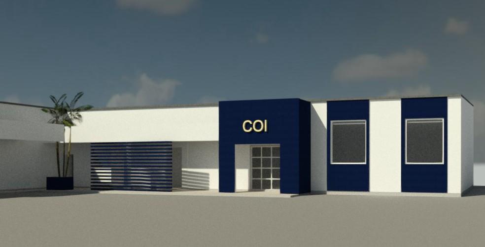 Projeto da sala de comando do Centro de Operações Integradas — Foto: Prefeitura de Jacareí/Divulgação