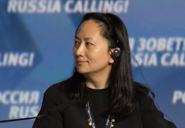 Meng Wanzhou foi presa durante uma conexão em Vancouver (Foto: Reuters)