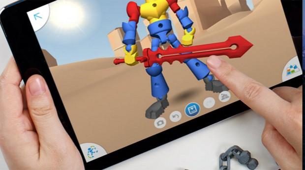 Acima, o app do ThingMaker (Foto: Reprodução)