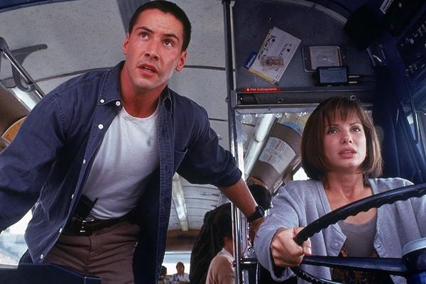 Keanu Reeves e Sandra Bullock em 'Velocidade Máxima' (1994) (Foto: Divulgação)