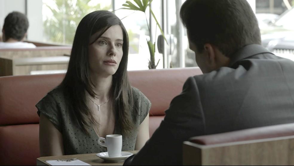 Ser que ela vai ter coragem de enfrentar o delegado Foto TV Globo