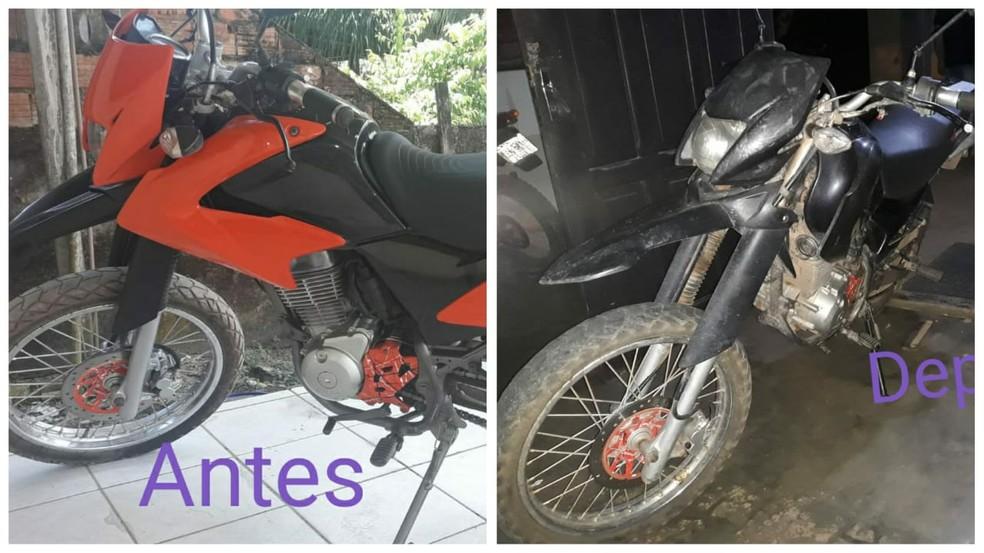Moto da vítima já estava adulterada — Foto: Divulgação/Polícia Civil