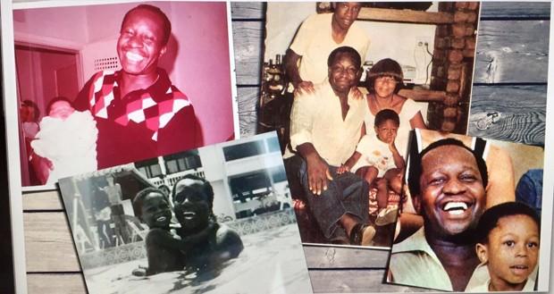 Fotos de Sandro Gomes com o pai Mussum e família (Foto: Acervo Pessoal)