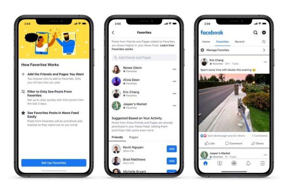 Facebook lança nova barra no feed de notícias que permite controlar a ordem das publicações na rede social — Foto: Divulgação/Facebook