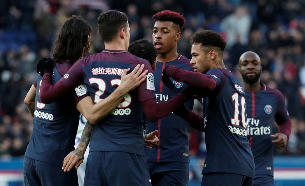 O Paris Saint-Germain derrotou o Strasbourg por 5 a 2 neste sábado (Foto: REUTERS/Benoit Tessier)
