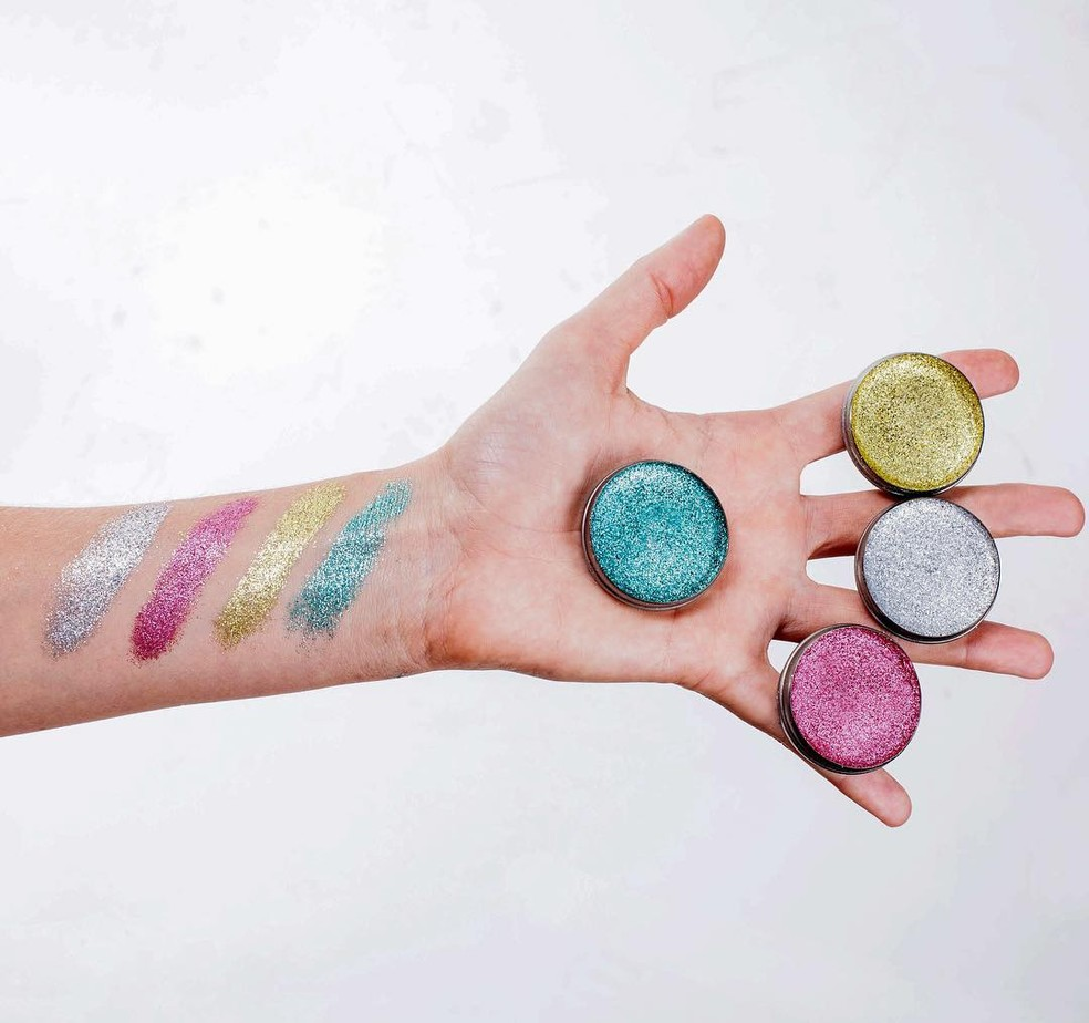 Maquiagem sustentável da Glitra — Foto: Glitra/Divulgação