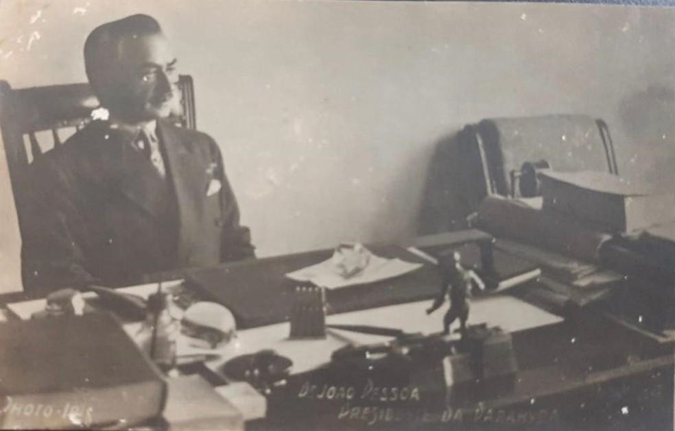 O modelo de gestão adotado por João Pessoa foi considerado moderno e centralizada o poder na mão do governador do estado — Foto: Arquivo Pessoal/Eduardo Cavalcanti
