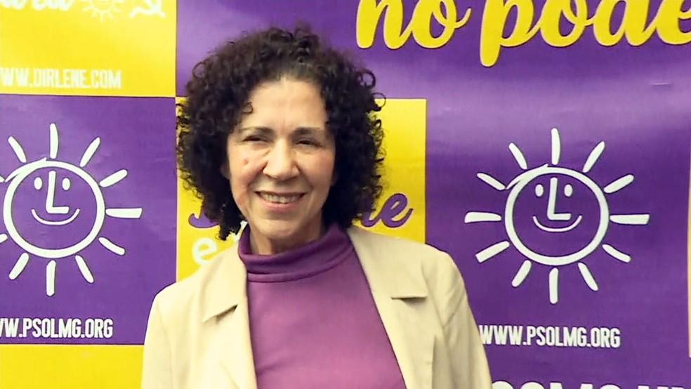 Dirlene Marques, candidata do PSOL ao governo de Minas Gerais (Foto: Reprodução/TV Globo)