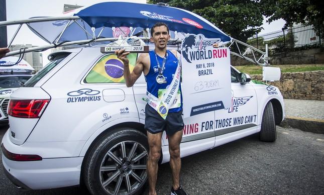José Eraldo Lima foi vencedor da Wings For Life no Rio