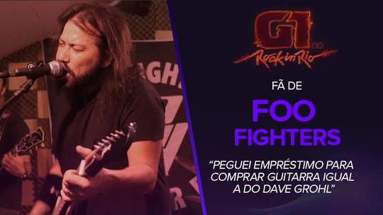 Fã de Foo Fighters, sósia de Dave Grohl pegou empréstimo para comprar guitarra igual a do ídolo