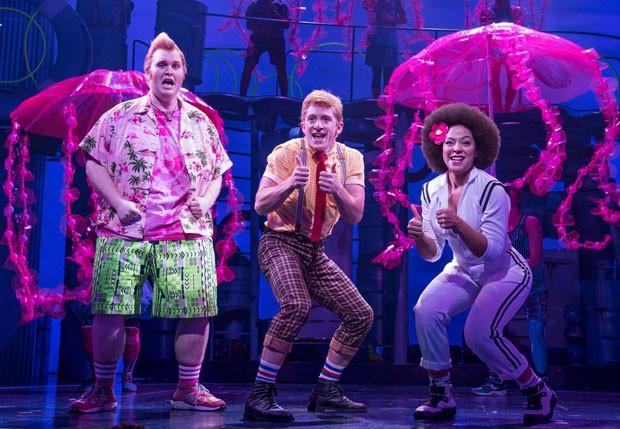 """O elenco do musical """"SpongeBob Square Pants""""  (Foto: divulgação / reprodução)"""