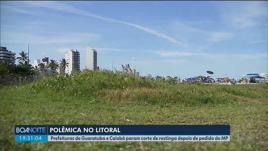 Prefeituras de Matinhos e Guaratuba suspendem poda da restinga após pedido do MP-PR