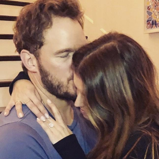 Chris Pratt e noiva (Foto: Reprodução)