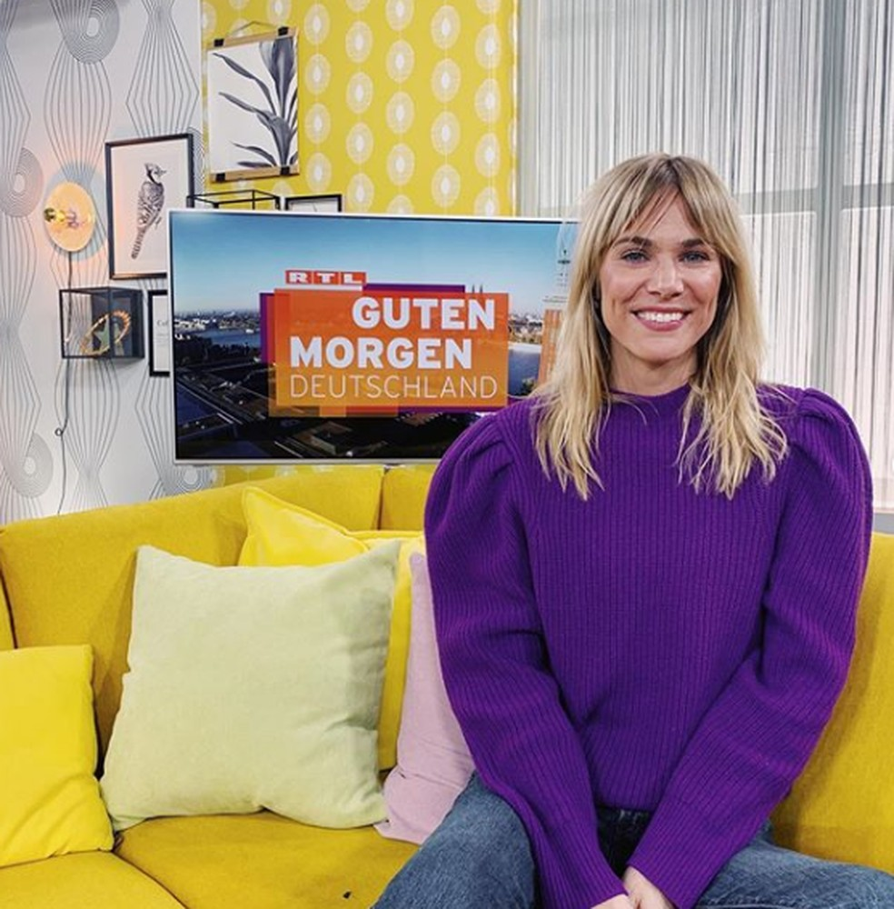 Eleita Miss Alemanha 2020, Leonie von Hase participa de programas na televisão alemã — Foto: Leonie von Hase/Reprodução/Instagram