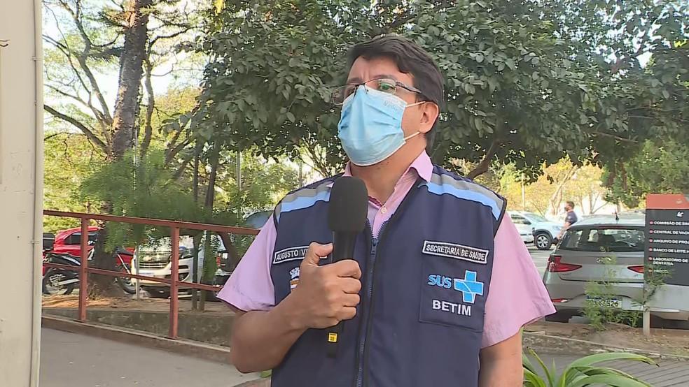 Secretário municipal de Saúde de Betim, Augusto Viana — Foto: Reprodução TV Globo