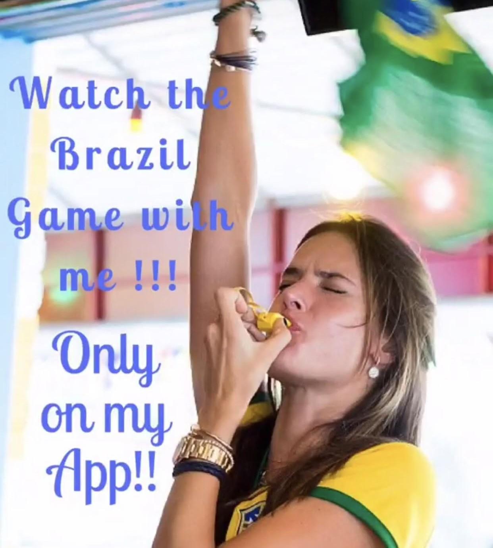 Alessandra Ambrosio está torcendo ao vivo no próprio aplicativo (Foto: Reprodução/Instagram)