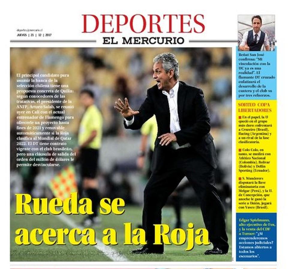 Reinaldo Rueda é capa do jornal