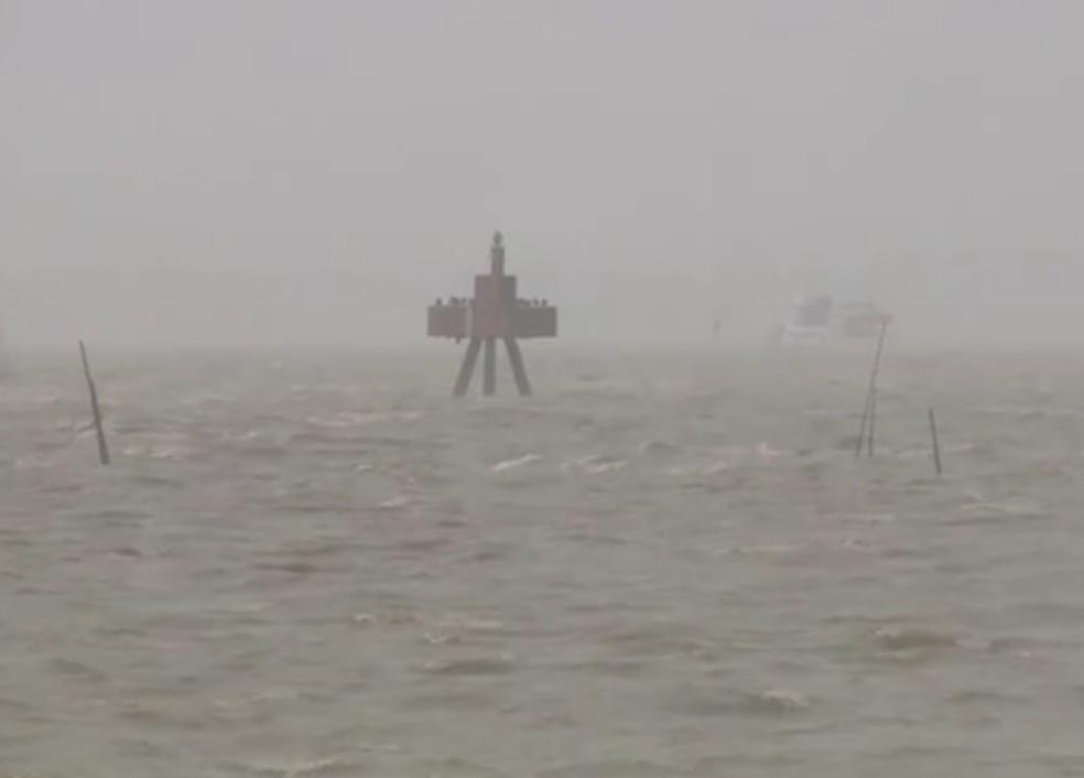 Marinha emite alerta de ventos fortes no sul da Bahia â?? Foto: Reprodução/RBS TV